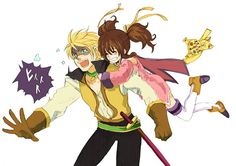 Guy and Anise from Tales of the Abyss