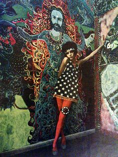 Psychedelic fashion - East Village, New York, 1967.