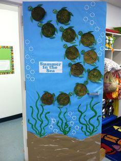 Great door idea for an ocean themed classroom.