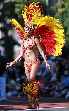 Red and Yellow Costume - Samba carnival 2012 - Asakusa, Tokyo Carnival Outfits, Carnival Themes, Carnival Costumes, Samba Costume, Doll Costume, Showgirl Costume, Brazil Carnival, Grenada Carnival, Carnival Dancers