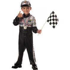 racer toddler boys race car driver halloween costume
