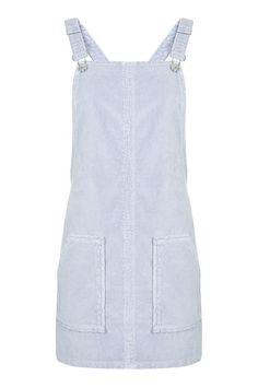 MOTO Dusty Lilac Velvet Pinafore Dress