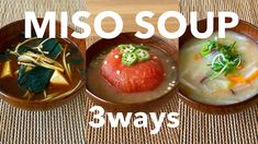 【Quick&Easy】How to make MISO SOUP 3WAYS/Japanese Mum Cooking - YouTube Miso Soup, Healthy Dishes, The Creator, Japanese, Vegetables, Cooking, Desserts, Youtube, Easy