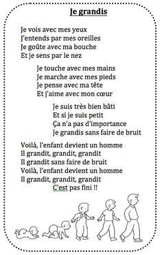 Chanson Je grandis chez Vivi – école petite section - Kita Projekte French Poems, French Phrases, French Teaching Resources, Teaching French, Petite Section, Learn French, Learn English, Basic French Words, French Kids