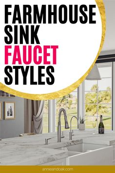 Best Kitchen Faucets, Best Faucet, Fireclay Farmhouse Sink, Farmhouse Sink Kitchen, Fixer Upper Show, Honeycomb Tile, Design Your Kitchen, Butcher Block Countertops, Exposed Wood