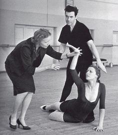 Maya Plisetskaya & Nikolai Fadeyechev at the rehearsal with Galina Ulanova