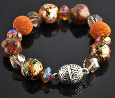 Swarovski Crystal and Beaded Bracelet by glitznglamgirlzz on Etsy, $25.00