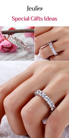 Jeulia offers premium quality jewelry at affordable price, shop now! Chicago Wedding Venues, Affordable Wedding Venues, Bar Set, Promise Rings, Princess Cut, Traditional Outfits, Special Gifts, Wedding Bands, Engagement Rings