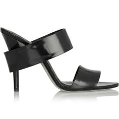 Alexander Wang Glossed-leather mules - Rs. 58,552/-