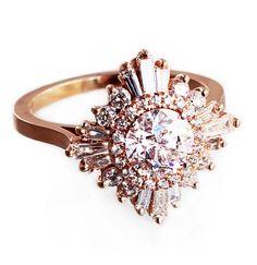 """Gatsby"" Ring - Diamonds – Heidi Gibson"