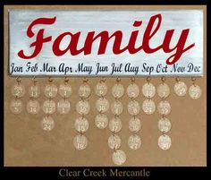 Ant. White Family Birthday Sign/Red and by clearcreekmercantile