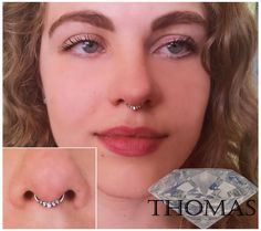 septum piercing with beautiful cz clicker by Thomas :)