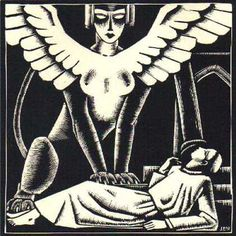"John Buckland Wright's illustrations for ""Le Sphinx"" by the Belgian Symbolist Iwan Gilkin."