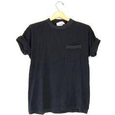 Vintage Plain Tshirt Black Basic Boxy Tee Simple Everyday Crewneck 80s... ($24) ❤ liked on Polyvore featuring tops, t-shirts, shirts, t shirts, cotton shirts, 80s shirt, 80s t shirts, crew neck tee and vintage tee-shirt