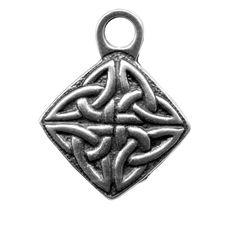 Charm | Britannia Metal | Celtic Diamond | Oberon Design