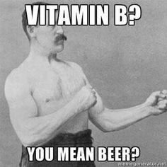 B for beer