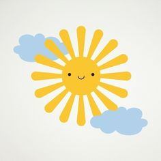 Happy Sun Vinyl Wall Decal Sticker for Baby by graphicspaces