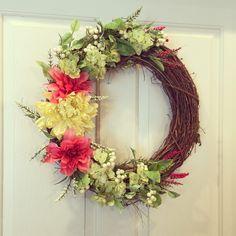 Beautiful spring wreath $50   https://www.facebook.com/WreathsbyKasy/