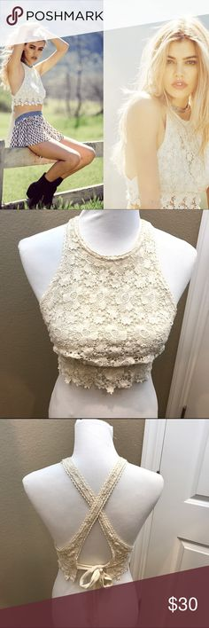 Knit Crop top New never worn. Firm price cotton candy la Tops Crop Tops