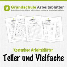 Kostenlose Arbeitsblätter und Unterrichtsmaterial zum Thema Teiler und Vielfache im Mathe-Unterricht in der Grundschule.