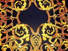 EE Elegance Paris Vintage scarf twill silk baroque by CHEZELVIRE, $14.00