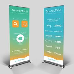 Create two pull-up banners for events for QuanticMind.com by isuk