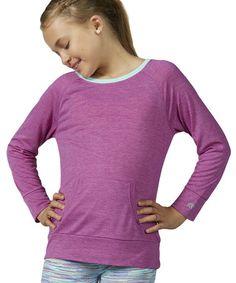 Loving this Heather Neon Purple Boatneck Top on #zulily! #zulilyfinds