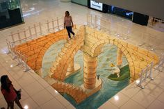 An underground world you wouldn't mind exploring. | 29 Mind-Bending Works Of 3D Street Art You Need To See