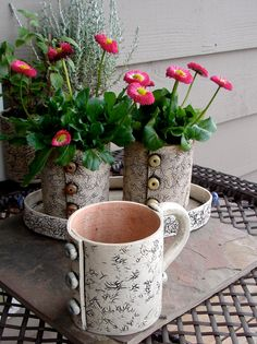 Pottery Coffee Mug  Great Mothers Day or Birthday by playfularts, $24.00