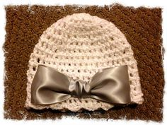 new born baby girl hat. $14.99, via Etsy.