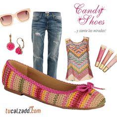 ¡Ponle color a tu día! www.tucalzado.com #Moda #Zapatillas #Estilos #Combinaciones #Colores