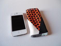 Oranje telefoonhoesje voor iPhone 5 en 5S, telefoonhoes met abstracte ruit print op Etsy, 5,00€