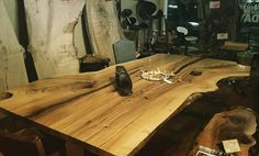Live Edge Harvest Table Dining Table or Boardroom by $7900 TreeGreenTeam