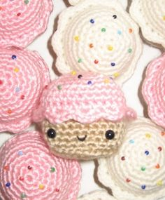 Little Pink Amigurumi Cupcake Softie by anapaulaoli on Etsy, $18.00