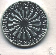 "1972G Germany 10 Marks Olympic Coin; ""Munchen"" Variety — Arfberger Enterprises"