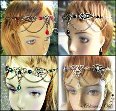 Triquetra Celtic Circlet, BRONZE Headdress, Handfasting Headdress, Ren Faire Circlet, Choose Color, Treasury Lists by ArtisansofOld on Etsy https://www.etsy.com/listing/191869851/triquetra-celtic-circlet-bronze