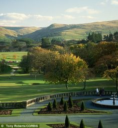 Gleneagles, Scotland. I have visited Scotland many times and been fortunate enough to stay here some of those times. Just gorgeous.