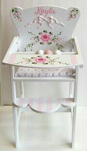 Shabby chic high chair for babies