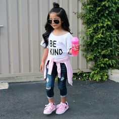 Pin by brenda 👑 on kim baby girl fashion, toddler girl outfi Cute Little Girls Outfits, Stylish Baby Girls, Girls Fall Outfits, Little Girl Fashion, Toddler Girl Outfits, Baby Outfits, Toddler Fashion, Girls Fashion Kids, Little Girl Swag