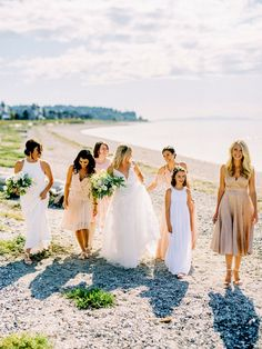 This Fun Boho Chic Seaside Wedding Is Everything Myrtle Beach Wedding, Seaside Wedding, Light Pink Bridesmaid Dresses, Wedding Dresses, Bridesmaids, Island Weddings, Wedding Colors, Wedding Ideas, Boho Chic