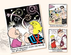 Promotional Calendars 2017 - Dennis The Menace Comic Art Calendar - July Art Calendar, Calendar 2017, Promotional Calendars, Dennis The Menace Comic, Comic Art, 4th Of July, Comics, Happy, Calendar For 2017