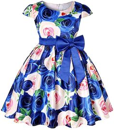 Baby Kids Flower Pretty Birthday Dresses Children Clothing Toddler Wedding Princess Dress Eveving Party Costume Clothes With Bow 4 African Dresses For Kids, Girls Party Dress, African Fashion Dresses, Little Girl Dresses, Girls Dresses, Birthday Dresses, Dress Fashion, Dress Party, Party Wear