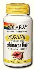 Organic Echinacea Purpurea Root 450mg - 100 - Capsule by Solaray. $10.78. Solaray certified organically grown products are 100% vegetarian, excipient free and contain no fillers or additional ingredients. Solaray. Organic Echinacea Purpurea Root 450mg by Solaray 100 Capsule SOLARAY Organic Echinacea Root is organically grown in accordance with the California Organic Foods Act of 1990 and certified by the Washington State Department of Agriculture. Size 100ct 450mg...