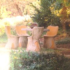My dream chairs down by the creek! Fishing & Picnics all day long!