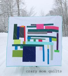 As abstract finished - crazy mom quilts
