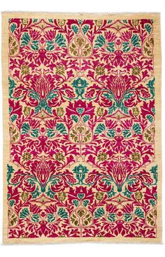 Darya Rugs Arts And Crafts Agripina Ivory Rug | Southwestern Rugs