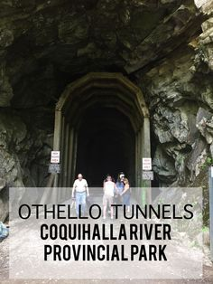 Walking the Othello Tunnels in Hope British Columbia Canada offers scenic views of the Coquihalla River and the old railway bridges of the Kettle Valley Railroad