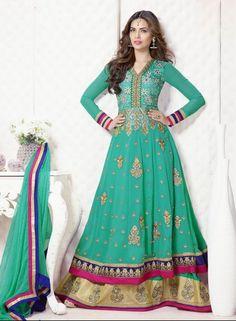 Buy Bollywood Designer Maxi Style Anarkali Dress $59.85 .  Shop at - bollywood-ankle-length-anarkali.blogspot.co.uk/2014/07/buy-bollywood-designer-maxi-style.html