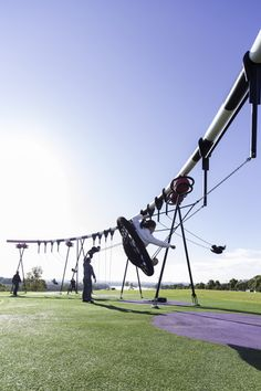 An Amazing Australian PlaygroundCustom designed swing set