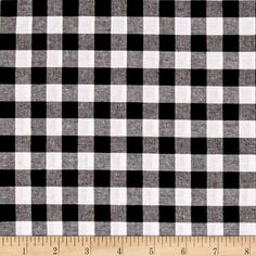 "Cotton + Steel Checkers Yarn Dyed Woven 1/2"" Black from @fabricdotcom  From Cotton + Steel, this lightweight woven yarn dyed gingham fabric is extremely versatile. It can be used to create stylish summer dresses, children's apparel and blouses. It can also be used to make tablecloths, curtains and more! Checks measure 1/2''. Remember to allow extra yardage for pattern matching."